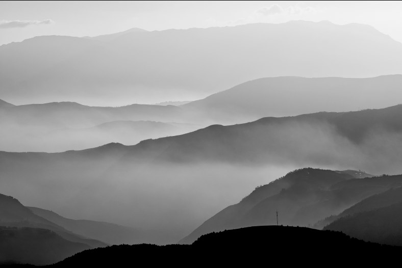 Mist in Mountains