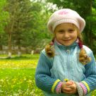 A little russian girl in the park