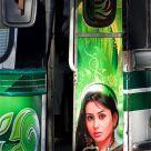 Illuminated bus
