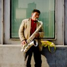 Solo Saxophonist on the Streets of Peking