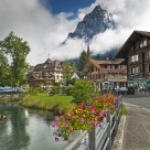 Little town in the Alps