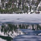 Tenaya Lake With Frozen Ice Patterns