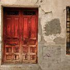 A red door
