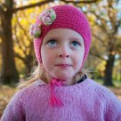 Girl in Hagley Park, Christchurch, in Autumn