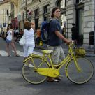His yellow bike