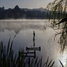 Misty morning of Lake Hakanoa