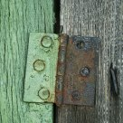 Green and brown - wood and metal
