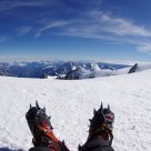 Resting on Mont Blanc