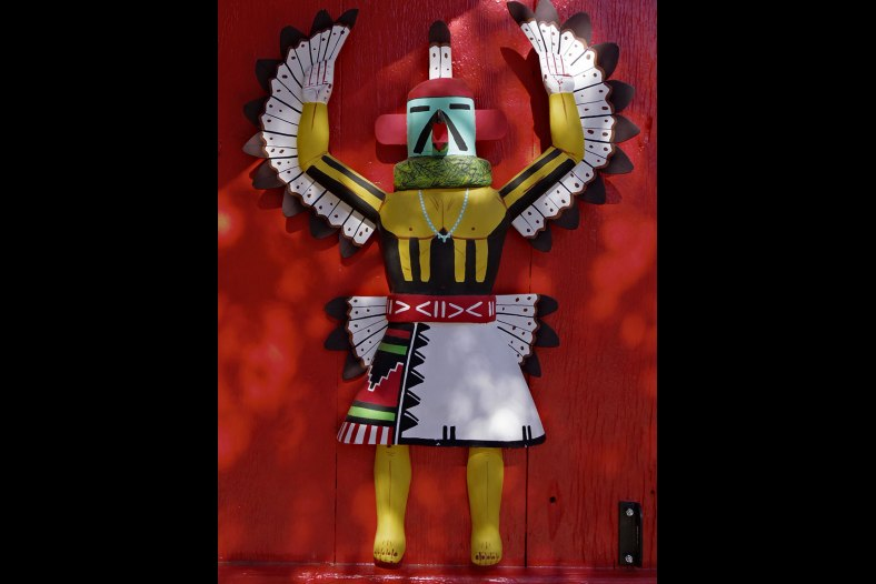 Kachina Doll in mixed sun & shade-HDR in camera