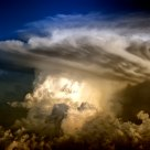 Thunderstorm over Austria