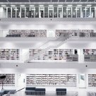 Books in white