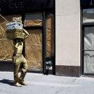 Walking statue