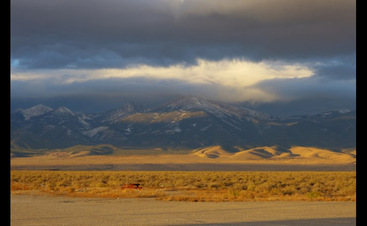 A Windy Morning in Front of the Great Basin National Park
