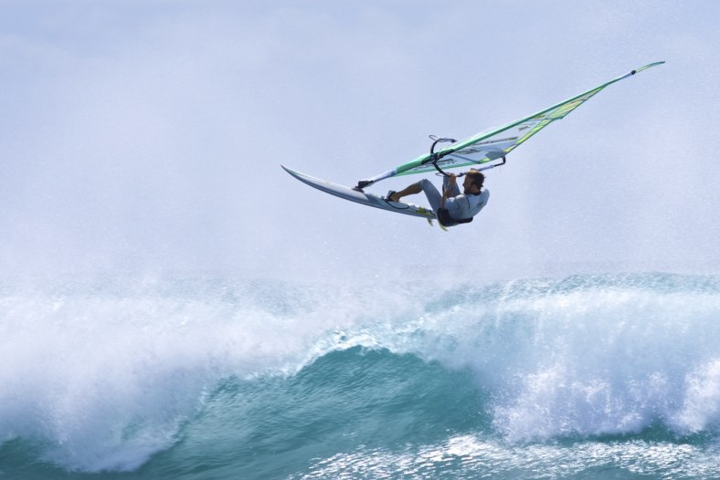Windsurfing at the Ponta Preta break in Cabo Verde
