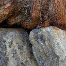 wood on stone