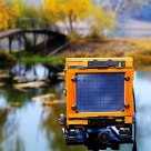 The large format camera beside the Princess lake