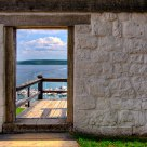 The Exit Door - Lake Michigan from Fort Mackinac