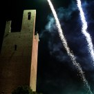 Main tower with fireworks