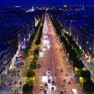 Champs-Élysées at blue hour