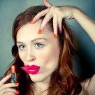 Fake cutout lips