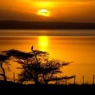 Couchant sur le lac Langano