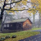 Foggy Cabin