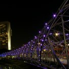 The Helix Bridge at Night