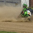 Rider down and in the dust