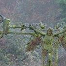 Momifié dans de la toile d'araignée