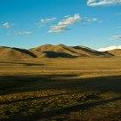 Sunset of Qinghai-Tibet Railway