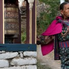 Buddhist at the Prayer Wheel