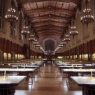 University of Michigan Law Library Reading Room at Night