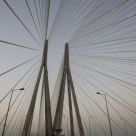 The bridge on the Sea Link Road, Mumbai