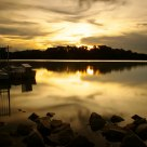 Sunset at Lower Pierce Reservoir