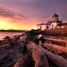 West Point Lighthouse at Dusk