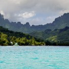 View from Opohuno Bay, French Polynesia