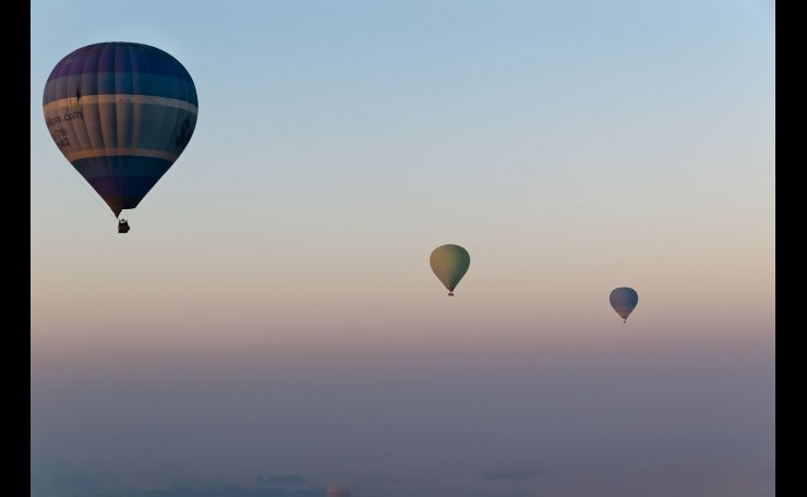 Early Morning Hot Air Balloon