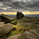 Stanage Edge balancing rock