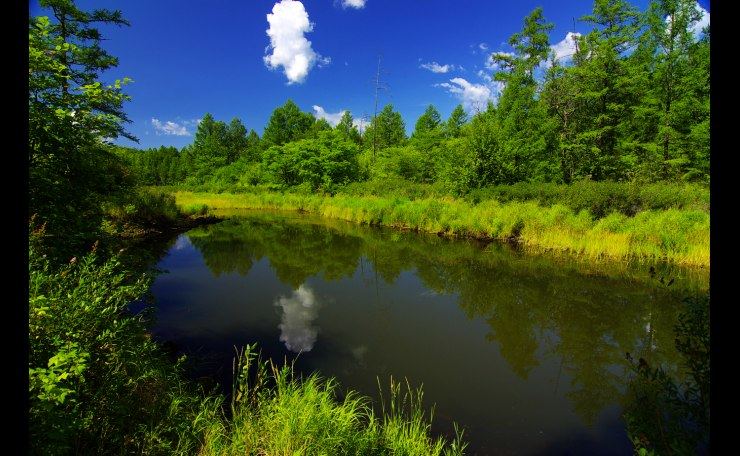 Beautiful riverside