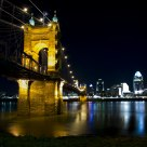 Roebling Suspension Bridge and Cincinnati