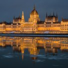 Parliament with ice floes