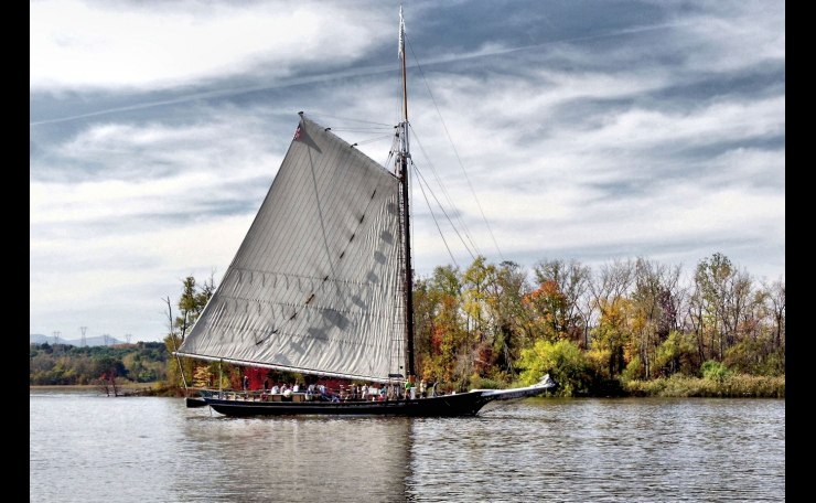 The Sloop Clearwater on the Hudson