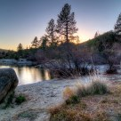 Lake Hemet Shoreline at Sunset