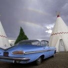 Rainbow Over Wigwam Motel on Route 66