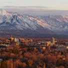 University of Utah Bathed in the Last Sunlight of the Day