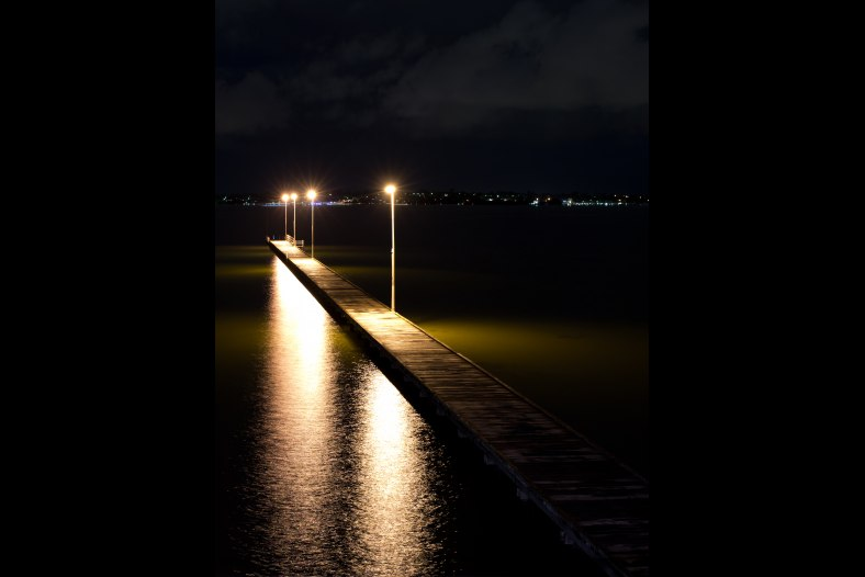 Como Jetty By Night
