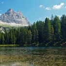 Antorno lake with Three Peaks of Lavaredo Mountain (south side) II