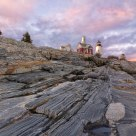 Pemaquid Point Light at Sunset