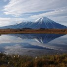 Kamchatka volkano Tolbachik. Sunrise.