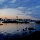 Sunset Of Tokyo Rainbow Bridge